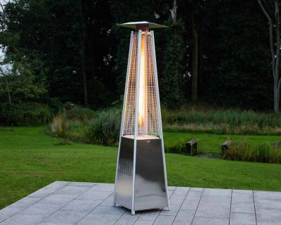 Athens Patio Heater in Silver