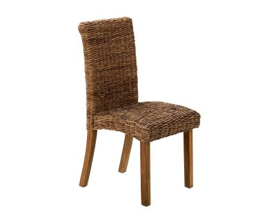 Milan Abaca Dining Chair Rustic Teak