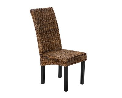 Pisa Rattan Dining Chair in Brown