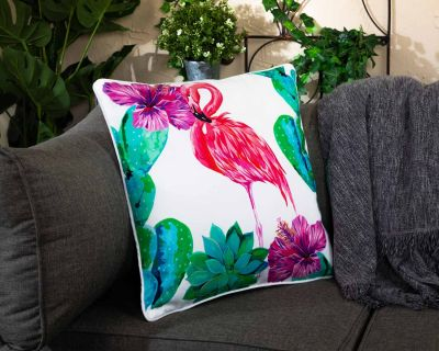 Premium Scatter Cushion in Flamingo Print
