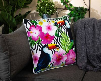 Premium Scatter Cushion in Toucan Print