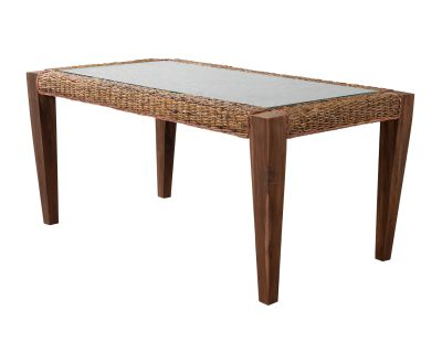 Milan Abaca Rattan Large Dining Table