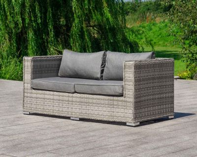 Ascot 2 Seat Sofa in Grey
