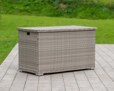 Outdoor Rattan Garden Storage Box in Grey