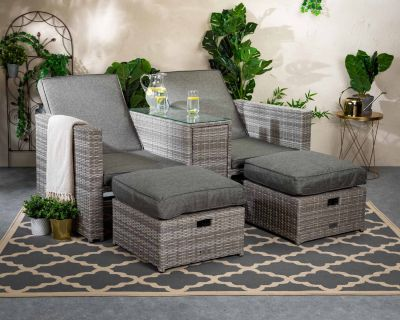 Paris Sun Lounger Set in Grey