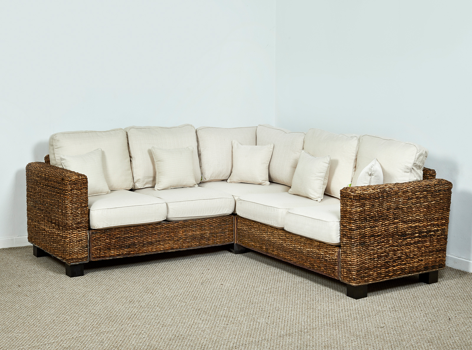 Kensington Abaca 209cm X 209cm Corner Sofa In Natural Oatmeal