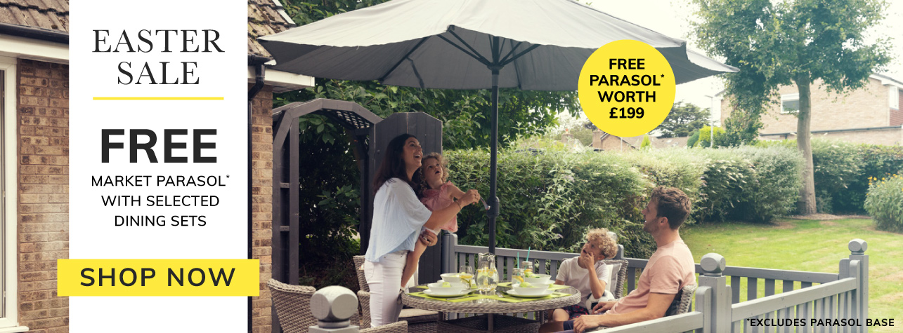 Easter Sale, Free parasol with selected dining sets