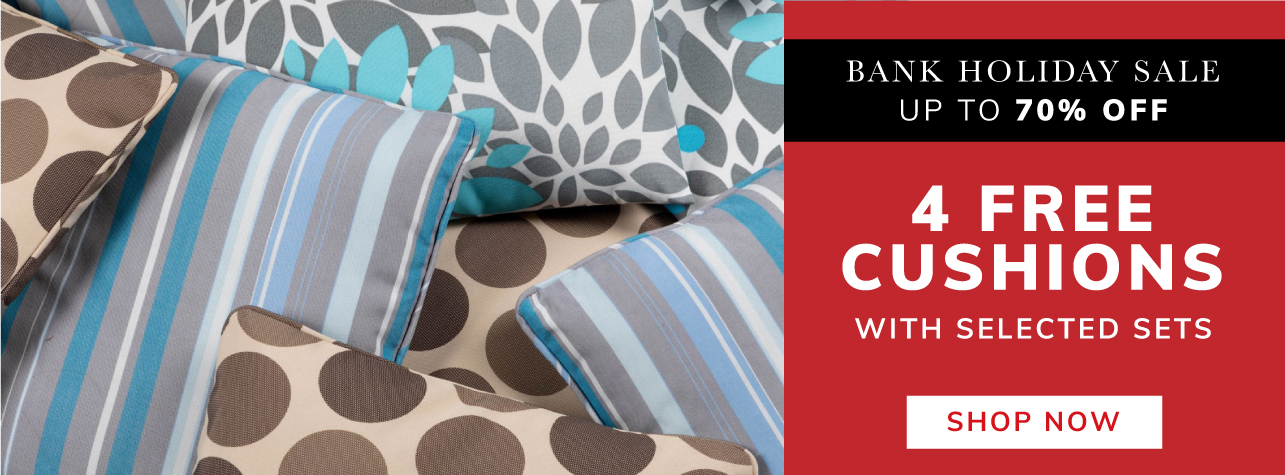 4 Free Scaatter Cushions with selected sets