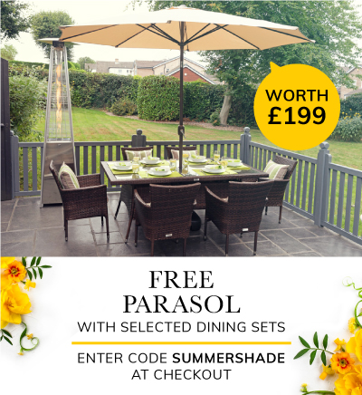 Free parasol and base with selected sets