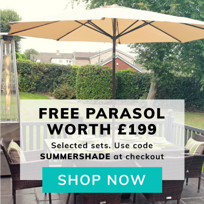 Free Parasol worth £199 with selected dining sets