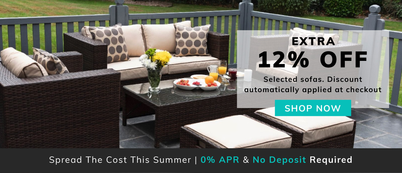 Extra 12% off selected sofa sets