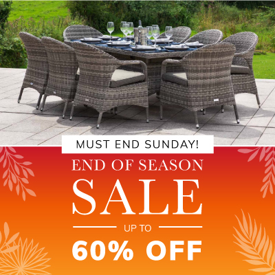 End of season sale. up to 60% off