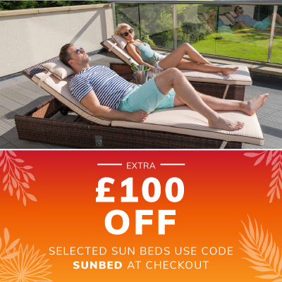 Extra £100 off selected sun beds
