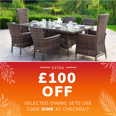 £100 OFF Selected Dining Furniture Using Code DINE at Checkout