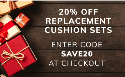 20% off replacement cushion sets with code SAVE20 - pre-order for delivery in March
