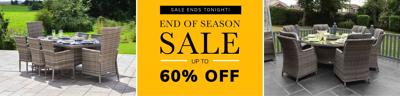 End of Season Sale up to 60% off ENDS TONIGHT
