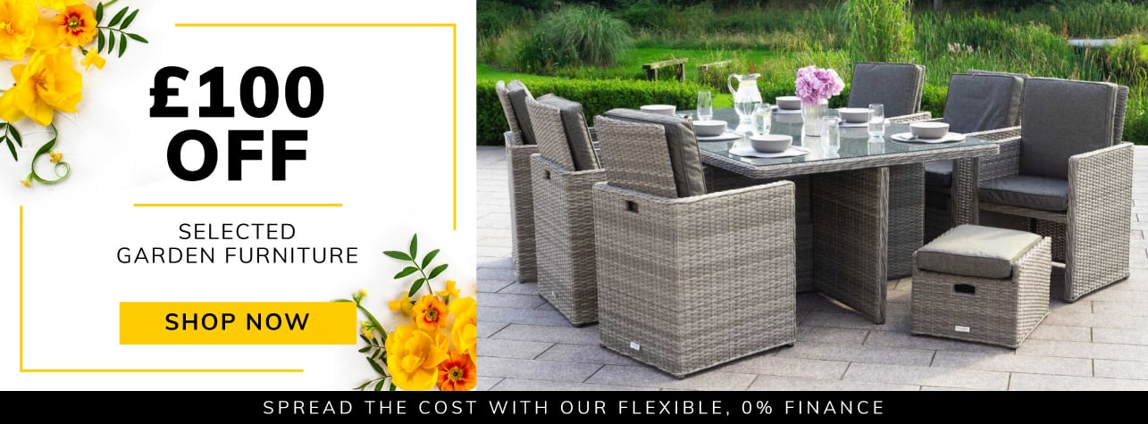 £100 off selected garden furniture