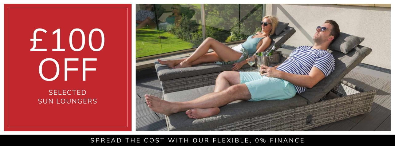 £100 off selected sun loungers
