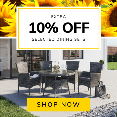 Extra 10% off selected dining sets