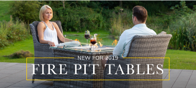 New in for 2019. Fire pit tables