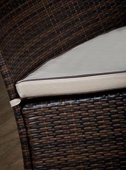 brown rattan chair seat