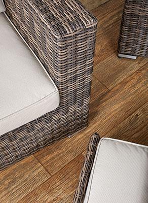 top view of rattan armchair