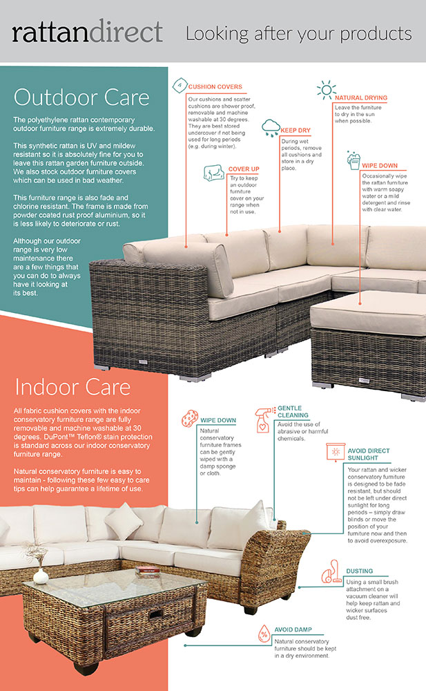 rattan looking after your products guide
