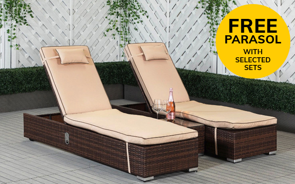 Buy Rattan Sun Loungers