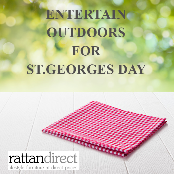 Entertain outdoors for St.George's Day