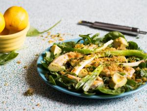 Quick springtime chicken salad