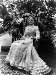 Ida Saxton McKinley, seated in a garden, 1900. Ideas for relaxation during the exam period.