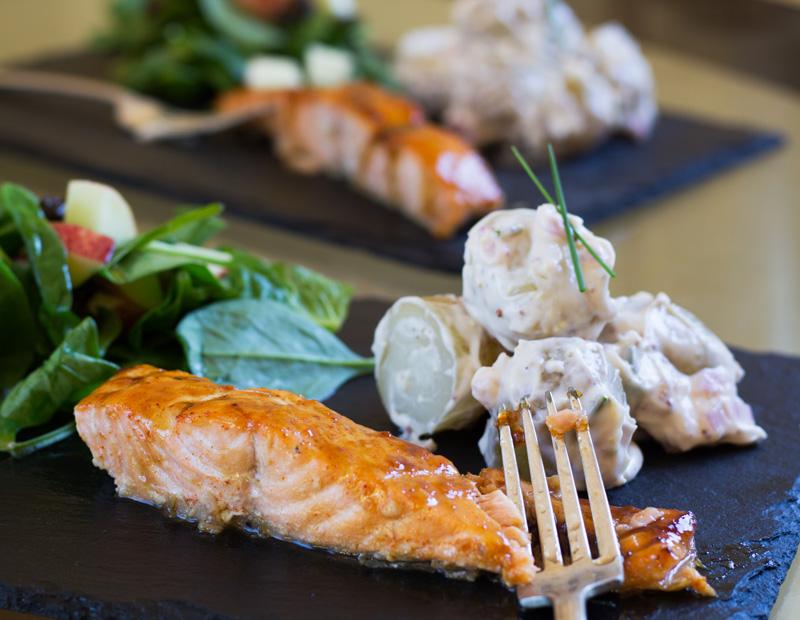 Maple roast salmon recipe