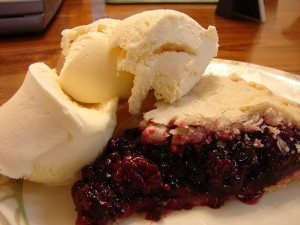 Blackberry pie and ice cream. Blackberries