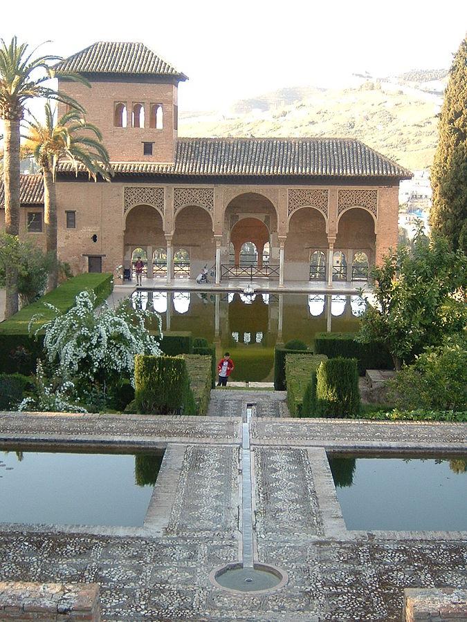 Gardens of the Alhambra, Granada, Spain. Peace