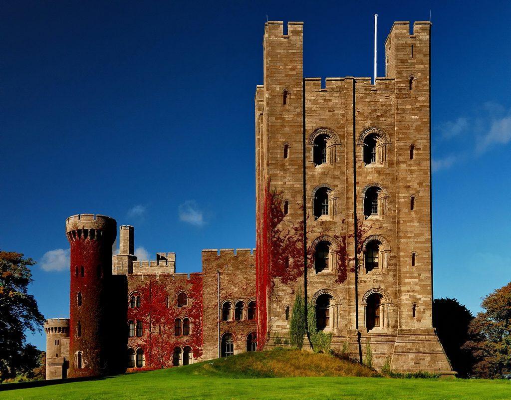 Penrhyn Castle, near Bangor, Gwynedd. Virginia creeper
