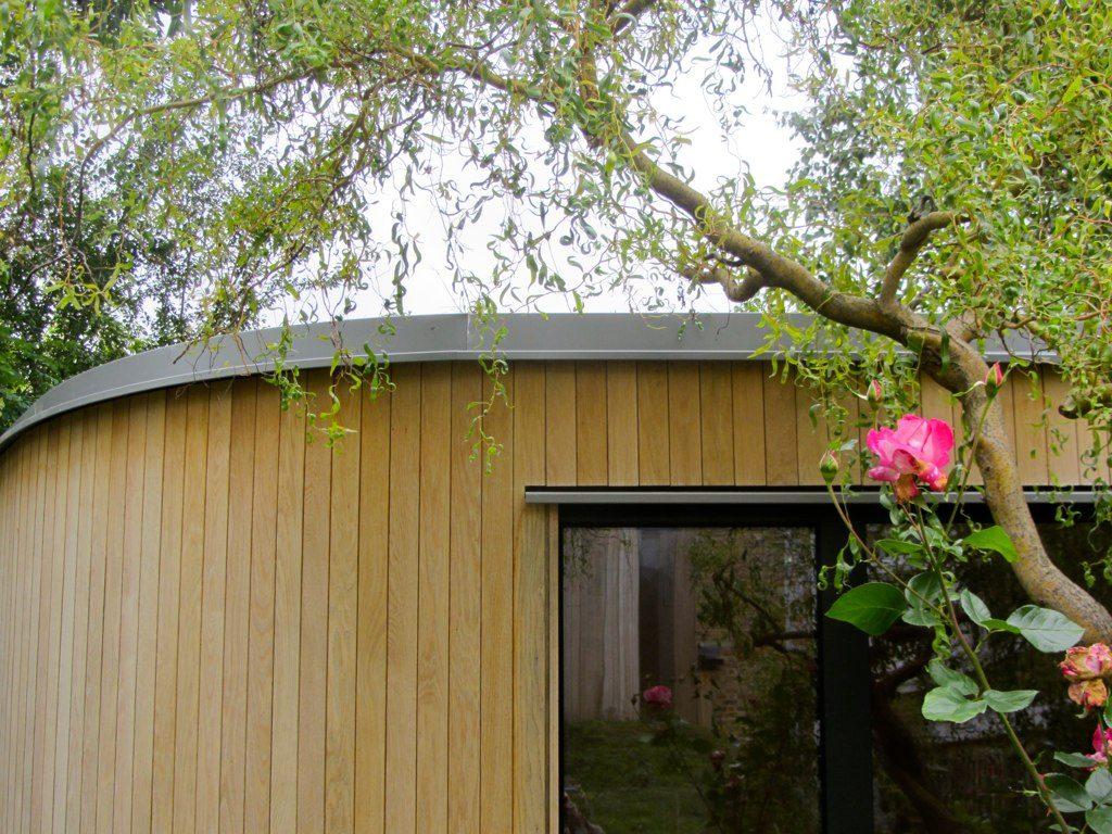 de Beauvoir Road garden office, September 2013. add value