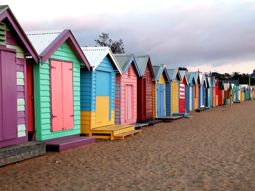 Brighton Beach, Melbourne, Australia. the Joneses