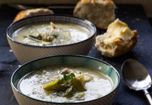 Recipe - chicken, potato and leek soup
