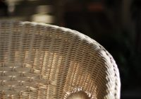 Rattan chair. Natural rattan furniture. spring clean