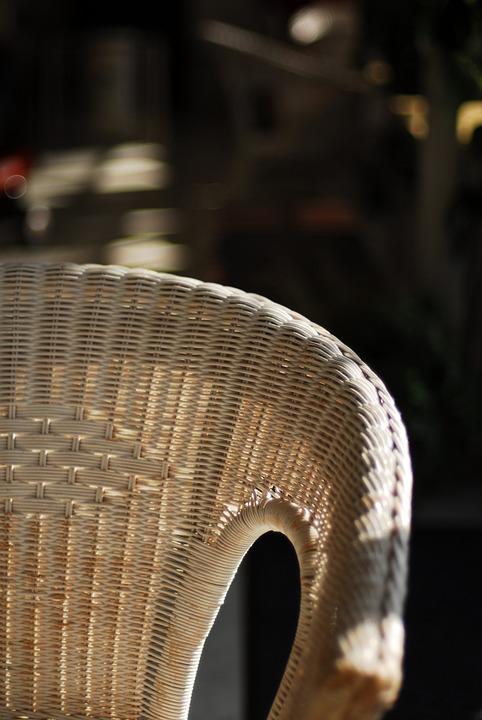 Rattan chair. Natural rattan furniture