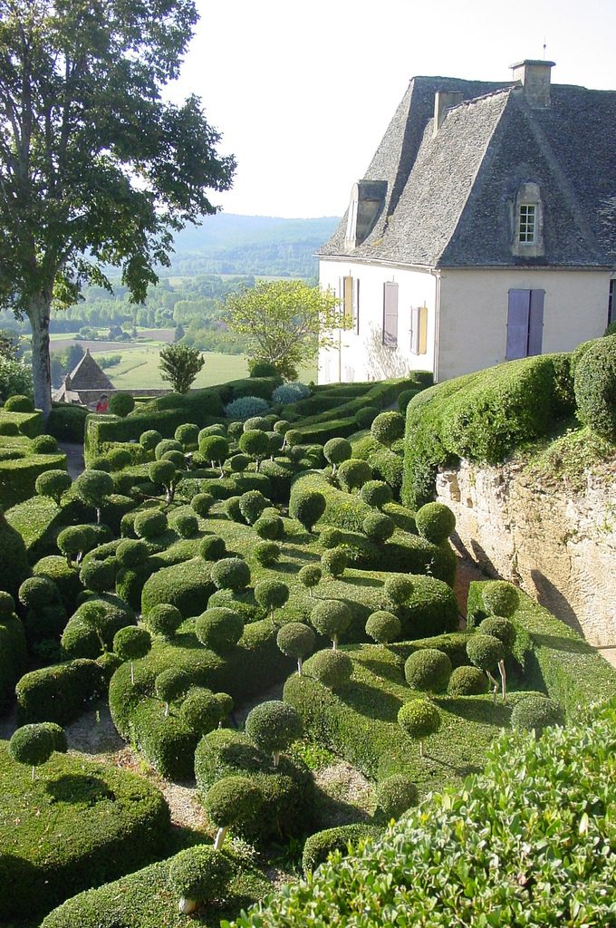 Extreme box balls in the gardens of Marqueyssac, France. Home and garden
