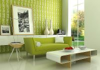 Green. Interior designer