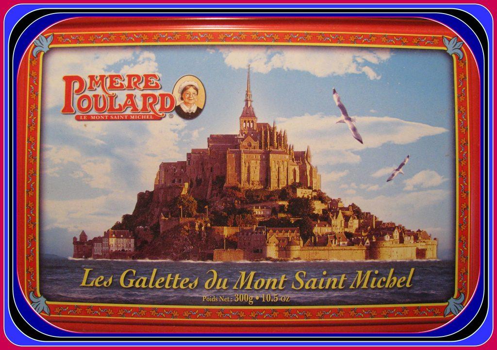 Mont Saint Michel biscuit tin. Christmas presents
