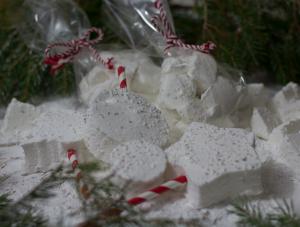 Easy marshmallows. Make festive snow marshmallow treats