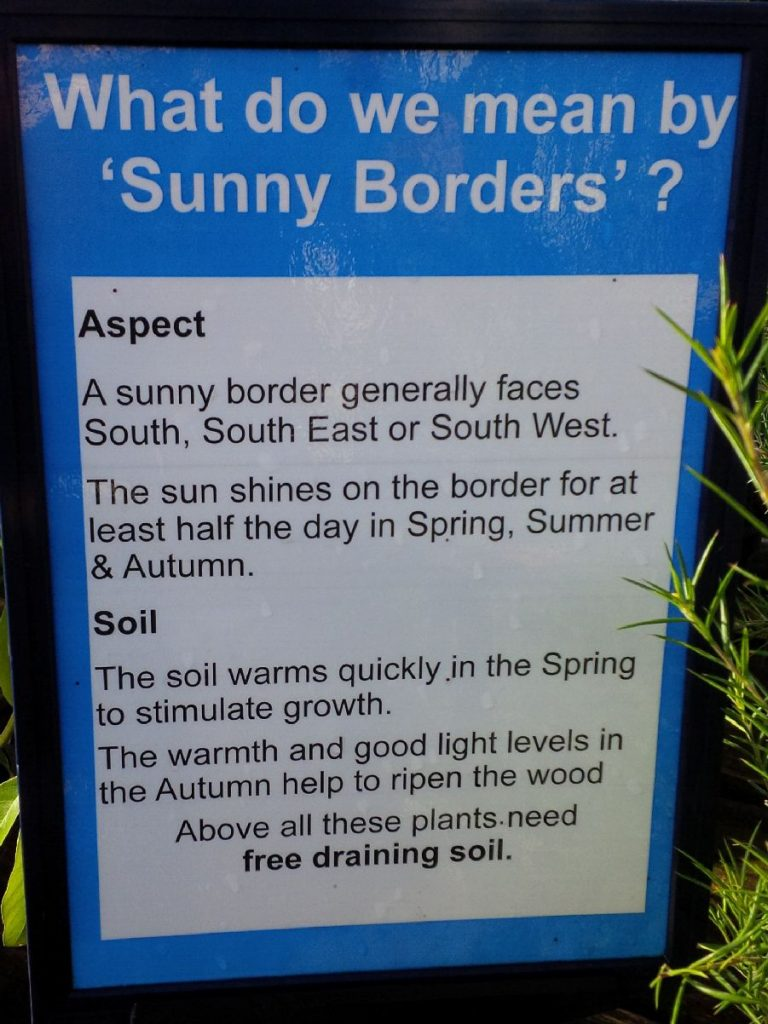 Sound advice from a garden centre. aspect
