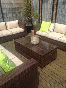 Garden cube or garden sofa sets + £150 off cantilever parasol