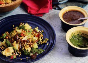 Indian street food; bhel puri