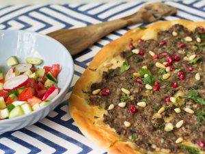 Turkish lamb flatbread - quick and easy