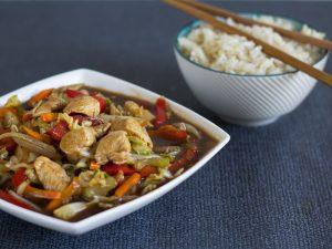 American chicken chop suey