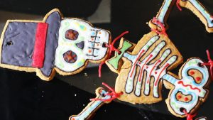 Giant skeleton gingerbread for Halloween